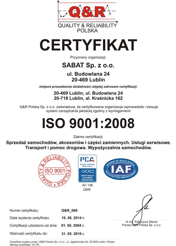 Certyfikat Q&R